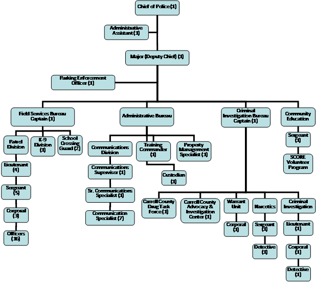 Police Department Organizational Chart