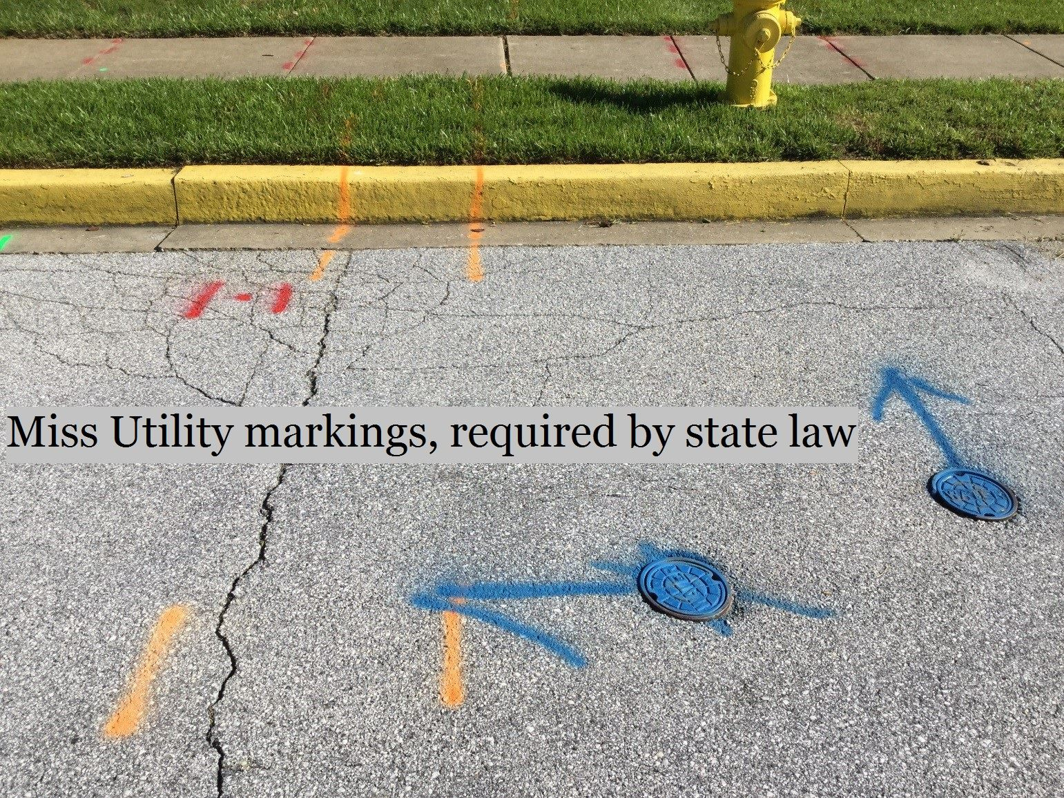 Miss Utility markings state law
