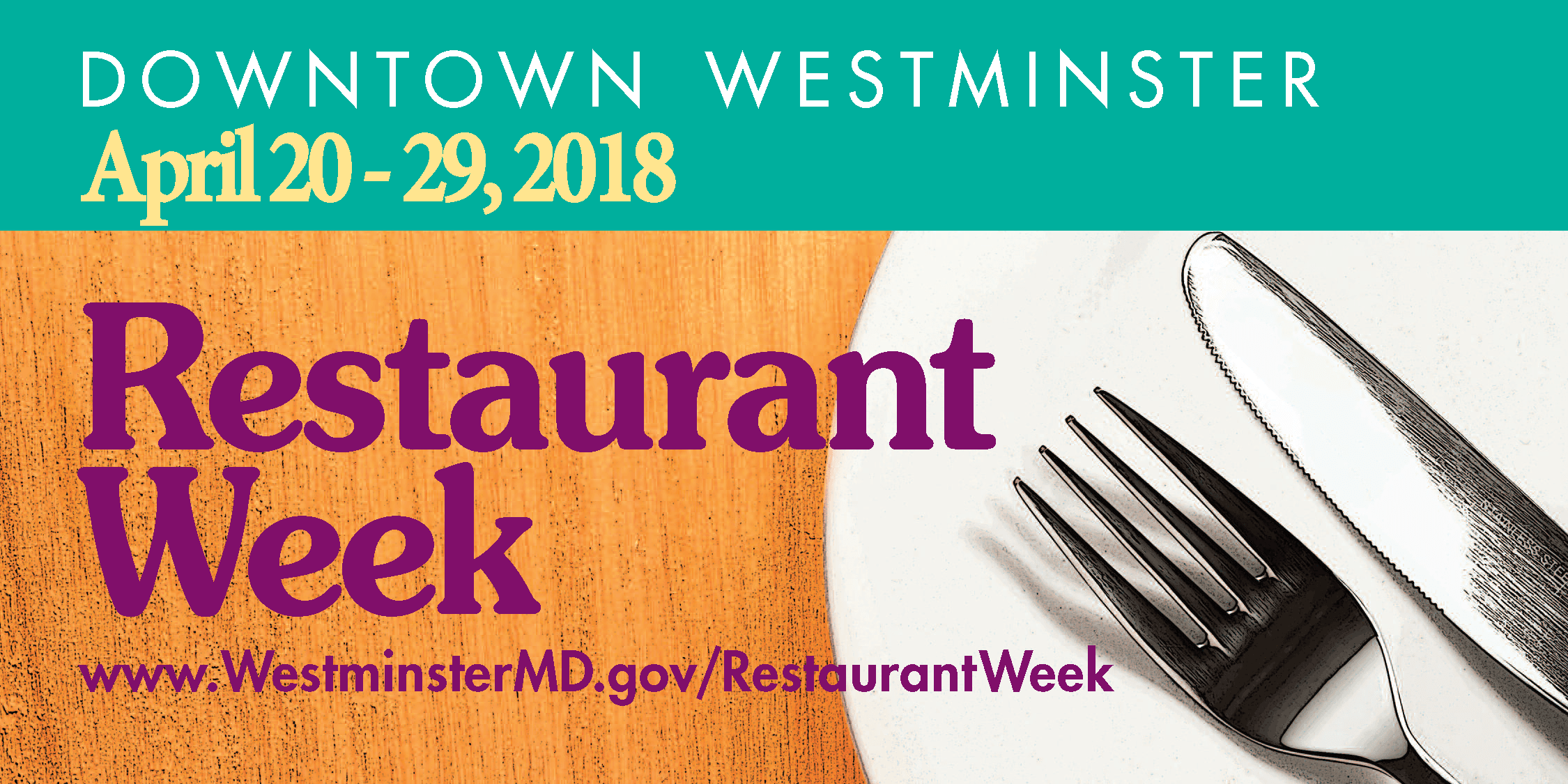 Restaurant Week 2018 billboard