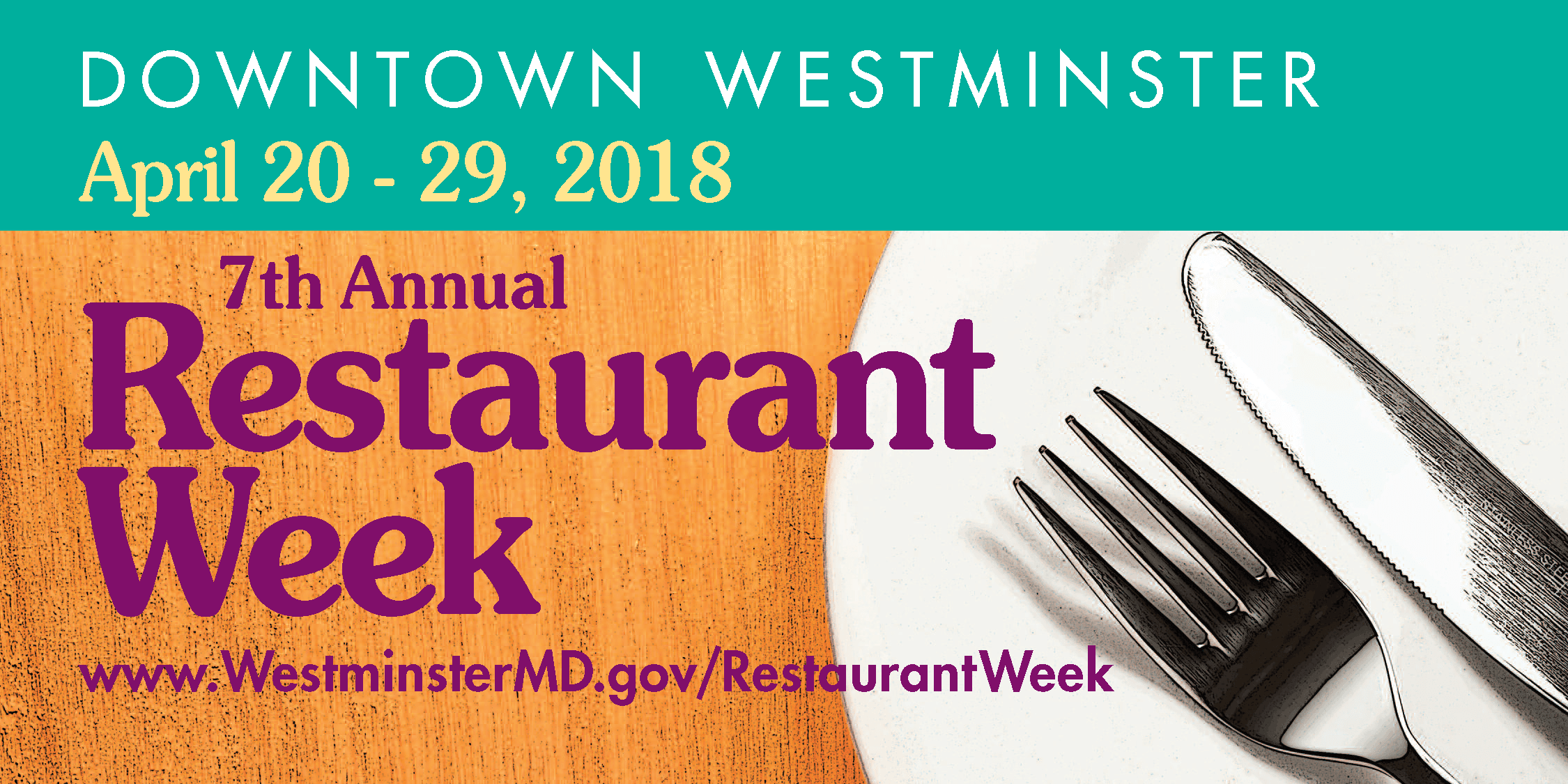 2018 Restaurant Week billboard