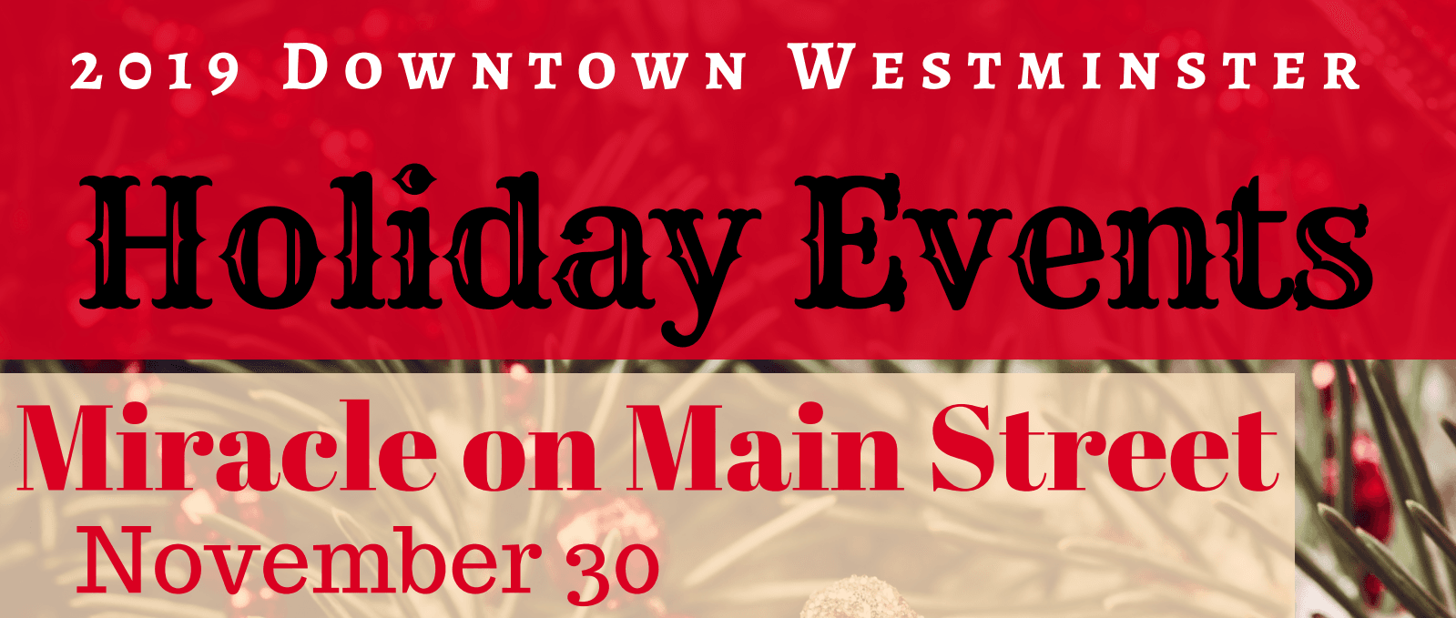 2019 Holiday Events Banner