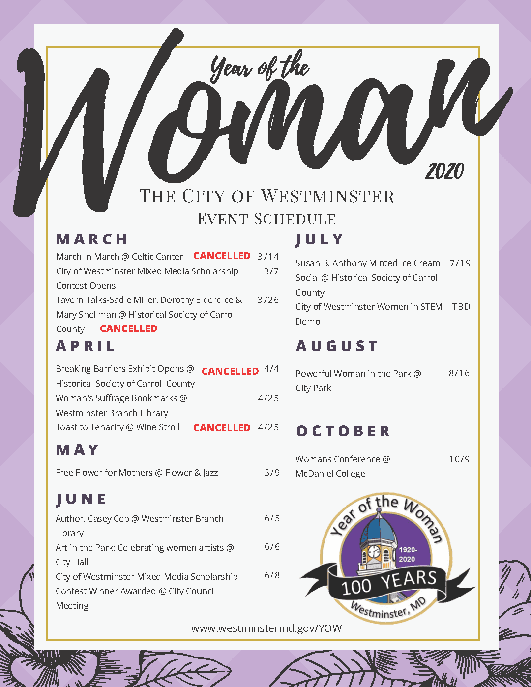UPDATED 3-19 Year of the Woman Flyer