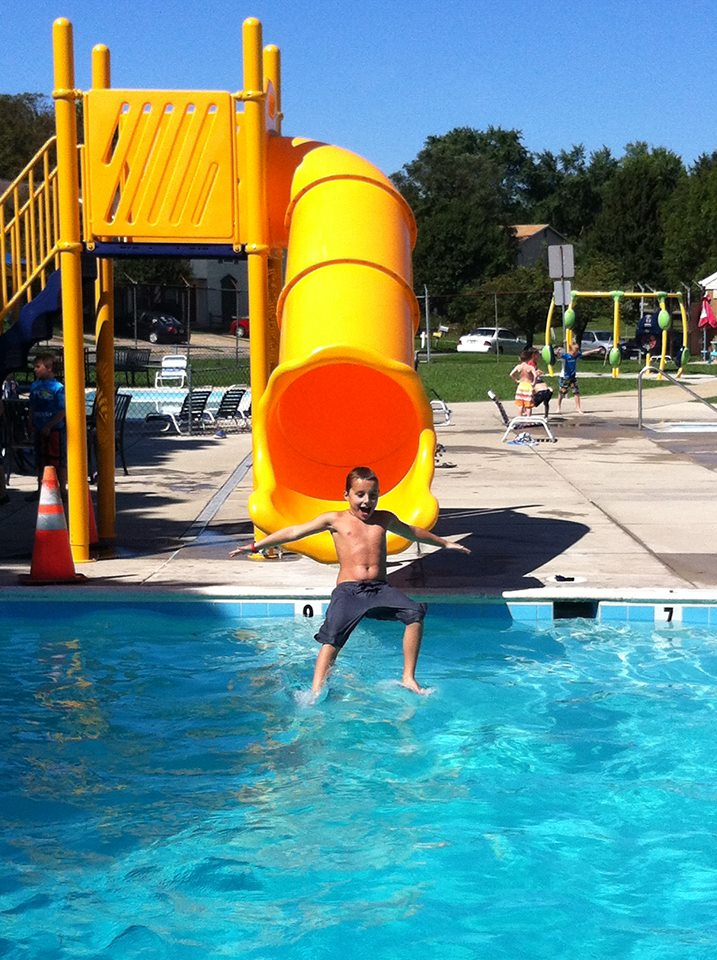 new slide at westminster municipal pool