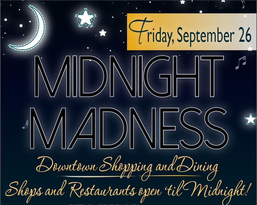 Midnight Madness in Westminster on September 26