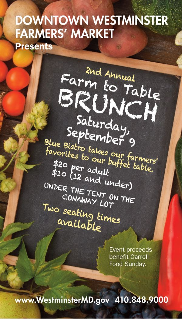 Farm to table brunch poster